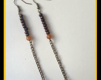 Ankh & Carnelian Crystal Earrings