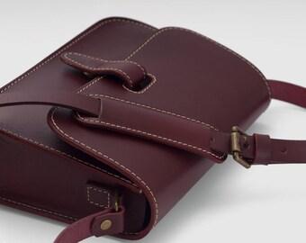 Vegetable Tanned Genuine Leather Shoulder Handbags