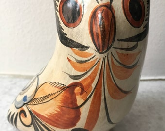 Vintage Mexican hand-painted folk art owl (1970's)