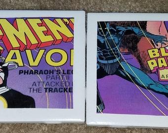 X-Men/ Nth Man Comic Book Coaster (4 Set)