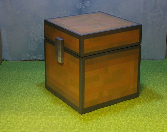 Minecraft inspired chest (unofficial) handmade