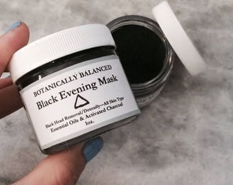 Black Evening Mask with Essential Oils