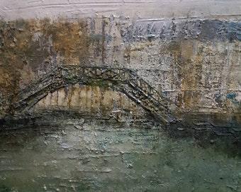 "Philippe PINGUSSON painter. ""Canal st Martin"" PARIS"
