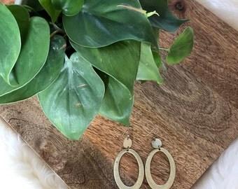 vintage gold geometric earrings | jewelry