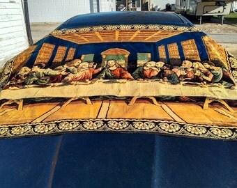 Vintage Italian Last Supper Tapestry