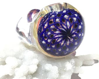 Polka dot pipe, ratticello pipe, fillacello pipe, glass smoking pipe, sparkle pipe, horn pipe