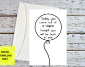 Dirty Birthday Cards, Birthday For Him, Sex Card, Naughty Birthday, Funny Husband Card, Sexy Card For Boyfriend, Dirty Gifts, Printable