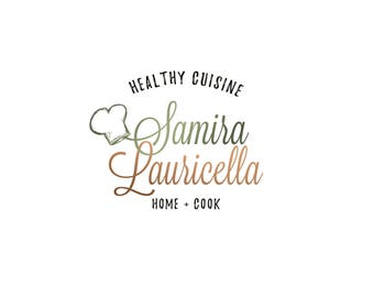 Template Logo Design, Chef Logo, Healthy Cook Logo, Organic Logo, INSTANT DOWNLOAD Logo, Premade Logo, DIY Logo, Logo Design, Vegetable Logo