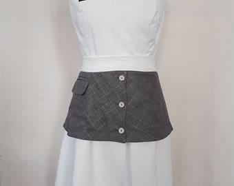 white corduroy skirt