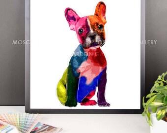 French Bulldog Framed Art