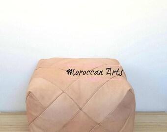 pair x 2 Moroccan Leather ottoman Pouf, pouf ottoman, 05