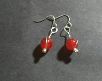 Red Dyed Jade Drops