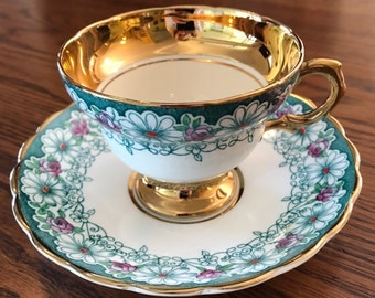 Vintage bone china ROSINA TEACUP and SAUCER