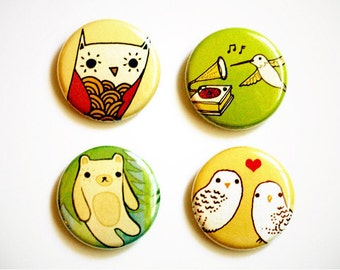 boygirlparty pins badges pinback button set, backpack buttons, kawaii buttons, collectible badges, cool pin badge, button pin