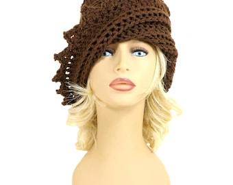 Women Crochet Hat Womens Hat, Womens Winter Hat Crochet Beanie Winter Beanie, Crochet Beanie Hat Winter Accessories, Lauren Brown Hat
