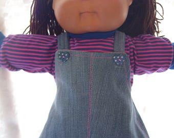 Vetement poupée jumper en denim et chandail pour poupée bébé de 16 a 18 pouces,41cm a 47cm