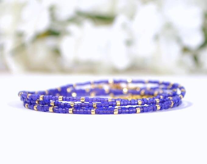 Purple Wrap Bracelet 5 Wrap Bracelet 35-38 inch