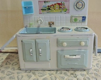 Doll Size Sink And Stove Combination