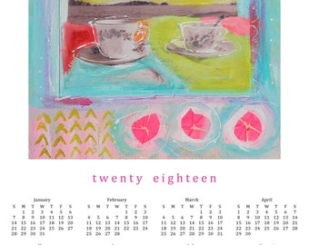2018 POSTER Calendar ---  celebrate THIS moment--- 100 % Recycled Paper