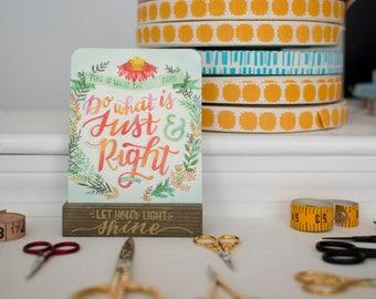 Bible Verse Prints, Religious Stocking Stuffer, Christian Gifts for Teacher Best Friend Teen Girl Under 20, Inspirational Scripture Desk Art
