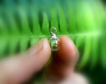GLASS BALLS Pendants w/ Simple Caps 8/10/12/14/16/20/25mm small/vials/bottles/globes/antique/Tibetan/silver/rustic/pewter/empty/metal/tops)