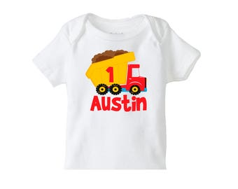Truck Birthday Shirt, Personalized Boys Birthday shirt, Construction Birthday, Personalized Birthday Shirts, Construction Birthday Party,