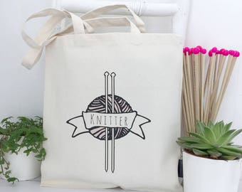 Knitter | Knitting Project Bag | Knitting Bag | Knitting Storage | Yarn Bag | Knitting Accessories