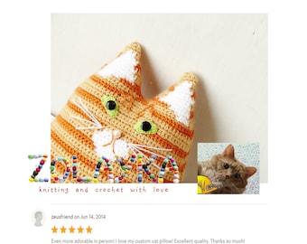 Crochet personalized cat portrait cat memorial lost pet gift