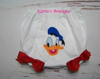 Donald Duck Diaper Cover / Pink / Purple / Bloomer / Princess / Disney Vacation / Mickey / Birthday / Cake Smash / Custom Boutique Clothing