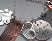 Mixed Metals Family Necklace - God Gave me You Jewelry - Personalized Family Necklace - Personalized - Gifts for Mom - Gifts for Grandma