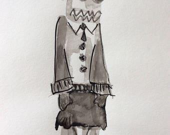 Kachina with business attire original outsider art by Melanie Knox