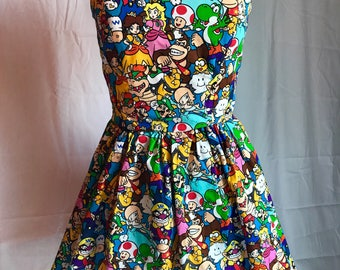 Super Mario Sweetheart Strapless Dress