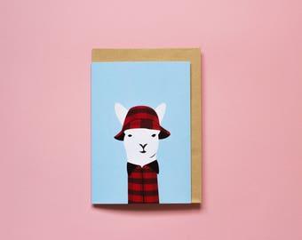 Swandri Llama - Greeting Card