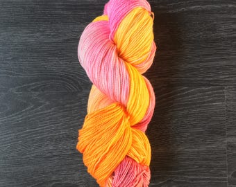 Hand Dyed, hand painted Yarn - Oh Hot Glam! AliBash 2 ply