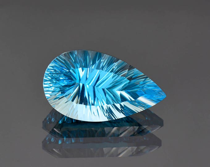 SALE EVENT! Stunning Large Concave Cut Swiss Blue Topaz Gemstone from Brazil 25.02 cts.