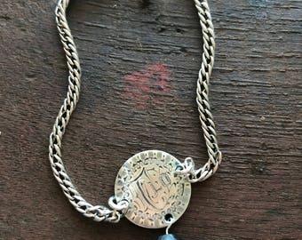 Victorian Love Token Coin Letters  F L O  FLORENCE Bracelet   #OOAK @CELESTEANDCOGEMS