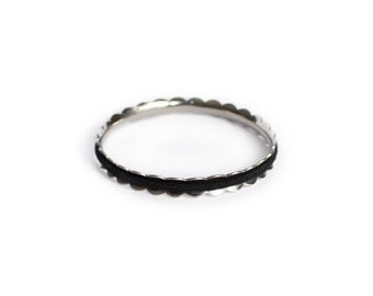 LAUREL Hair Tie Bracelet Bangle Made From Hypoallergenic Stainless Steel in Sliver. Hair Tie Holder