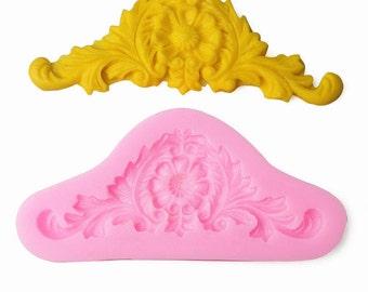 Vintage Style Flourish Silicone Mold - C-1607 - Baking Fondant Wedding Cake Decorating Tools