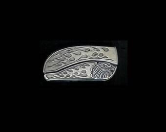 Flame Eagle Belt Buckle Knife.