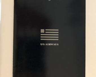 Vintage Airlines Safety Card/ A320 EOW Safety Card/ Vintage US Airways/ Airline Collectibles/ Airplane Safety Instructions