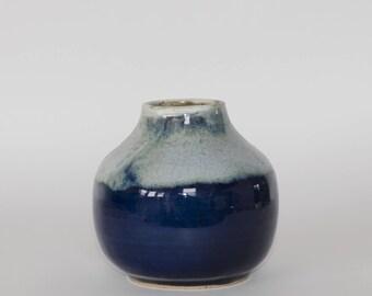 Blue flower pot