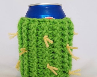 Crochet Cactus Can Cozy Bottle Cozy Handmade Gift Idea for Him for Her Drink Accessory Beer Can Soda Can Beer Bottle Fun Gift Idea