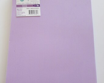 10 Sheets of Foam 9x12 - Lavendar - Ideal for foam crafts, fofuchas and more