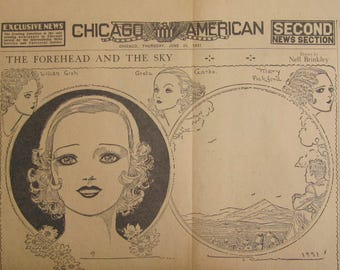 Original 1931 Newspaper Clipping - The Forehead And The Sky By Nell Brinkley