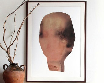 Large scale art print abstract minimalist painting black art for Minimal art vzla