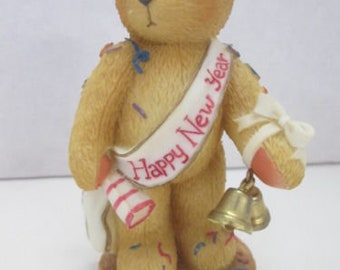 Enesco Cherished Teddies Newton Ringing in the New Year With Cheer 1997 #272361