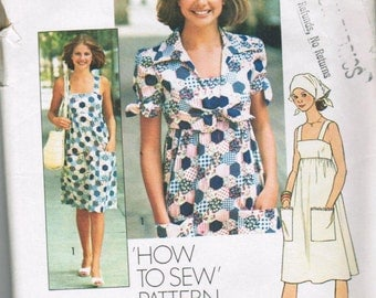 Simplicity 7292 Young Junior/Teen and Misses Dress Unlined Jacket and Scarf SIZE 10