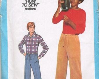 Simplicity 8359 Mens Drawstring Pants Pattern Medium Size 38-40 UNCUT