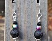 Galaxy Lava Rock Earrings