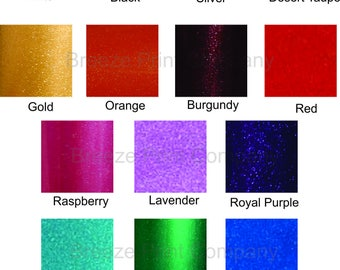 Glitter sticky vinyl Ultra Metallic adhesive outdoor viny sheets FDC 3700 series multiple colors available